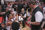 Matt Stone/The Courier-Journal New Albany boys basketball coach Jim Shannon talks to his team during a timeout earlier this season. Matt Stone/The Courier-Journal New Albany coach Jim Shannon talks to his team during a timeout. New Albany coach Jim Shannon talks to his team during a timeout.