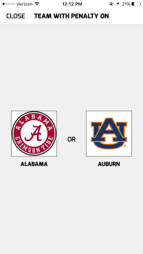 Penalty Team Select