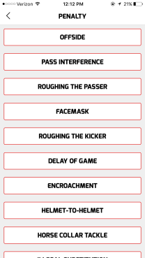Penalty Type Select