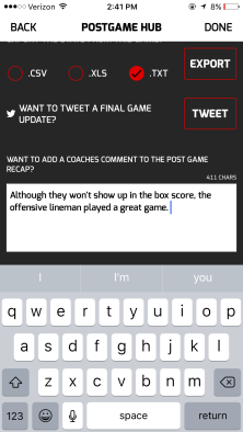 Post Game Recap