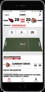 Football Fan App Gamecast (BLACK)